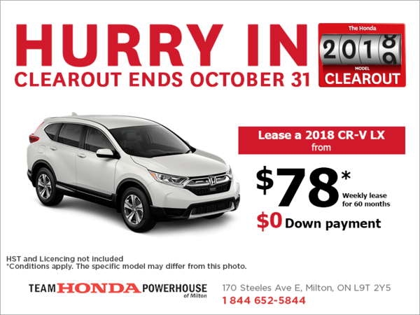 Lease the 2018 Honda CR-V!