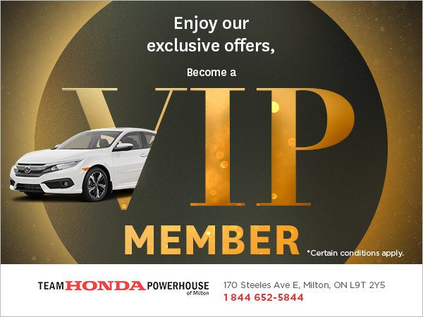Become a VIP Member at Team Honda