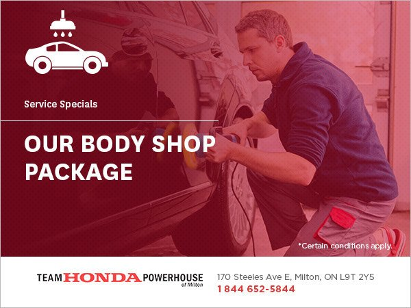 Choose from Our Body Shop Packages